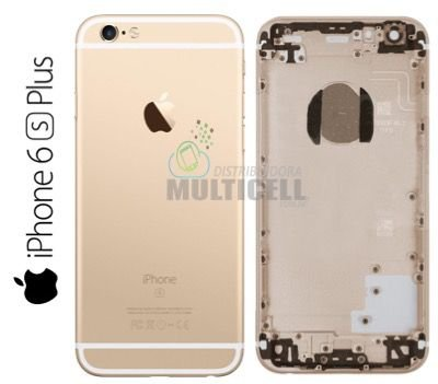 CARCAÇA CHASSI TAMPA TRASEIRA APPLE A1634 A1687 IPHONE 6S PLUS 5.5'' GOLD DOURADA 1ªLINHA AAA