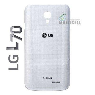 TAMPA TRASEIRA DA BATERIA LG D325 D340 L70 TRICHIP BRANCA ORIGINAL