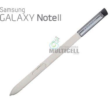 CANETA CAPACITIVA DE TOQUE STYLUS SAMSUNG N9220 N7100 GALAXY NOTE 2 BRANCA ORIGINAL