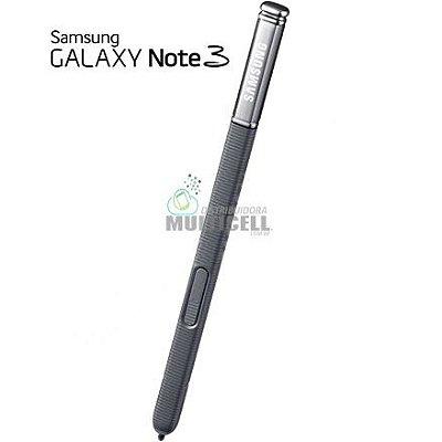 CANETA CAPACITIVA DE TOQUE STYLUS SAMSUNG N9000 N9003 N9005 N7505 GALAXY NOTE 3 PRETA ORIGINAL