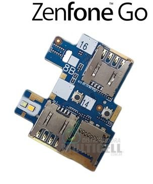 FLEX LEITOR MATRIZ SLOT CONECTOR DE CHIP SIM CARD ASUS ZC500 ZC500TG ZENFONE GO ORIGINAL