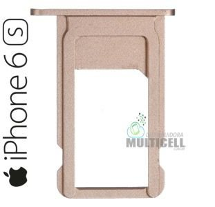 BANDEJA GAVETA TRAY CHIP SIM CARD APPLE A1633 A1688 IPHONE 6S 4.7'' GOLD DOURADA ORIGINAL