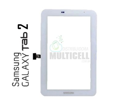 TELA TOUCH SCREEN SAMSUNG P3110 GALAXY TAB 2 BRANCO ORIGINAL
