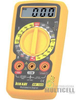 MULTÍMETRO CAPACÍMETRO DIGITAL HIKARI HM-1000  HM1000 PROFISSIONAL