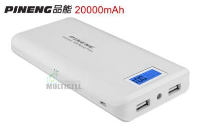BATERIA EXTERNA 20000mhA CARREGADOR PORTÁTIL POWER BANK PINENG PN-999 100% ORIGINAL