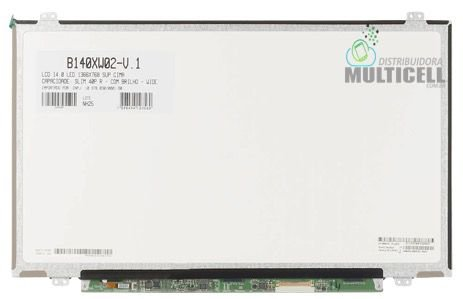 TELA LCD DISPLAY LED SLIM PARA NOTEBOOK B140XW02-V.1 40 PINOS 14.0'' 1366 x 768 COM BRILHO ORIGINAL