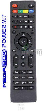 CONTROLE REMOTO PARA RECEPTOR DIGITAL MEGABOX POWERNET PLATINIUM P99HD P99 HD 1ªLINHA