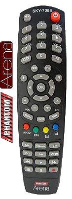 CONTROLE REMOTO PARA RECEPTOR DIGITAL PHANTOM ARENA SKY-7088 1ªLINHA