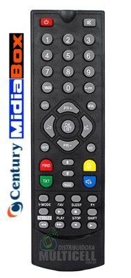 CONTROLE REMOTO PARA RECEPTOR DIGITAL CENTURY MIDIA BOX SKY-7408 1ªLINHA