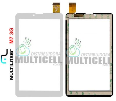 TELA TOUCH SCREEN MULTILASER M7 3G NB 162 NB162 BRANCO ORIGINAL