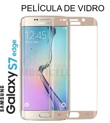 PELÍCULA DE VIDRO CURVA SAMSUNG G930 GALAXY S7 EDGE  DOURADO GOLD 2,5mm