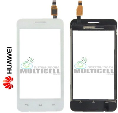 TELA VIDRO TOUCH SCREEN HUAWEI Y330 ASCEND BRANCO ORIGINAL