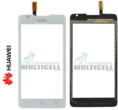 TELA VIDRO TOUCH SCREEN HUAWEI Y530 ASCEND BRANCO ORIGINAL