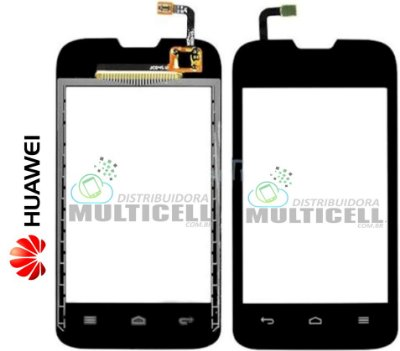 TELA VIDRO TOUCH SCREEN HUAWEI Y210 ASCEND PRETO ORIGINAL