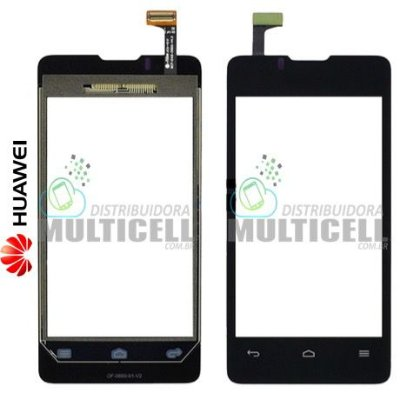 TELA VIDRO TOUCH SCREEN HUAWEI ASCEND Y300 PRETO ORIGINAL