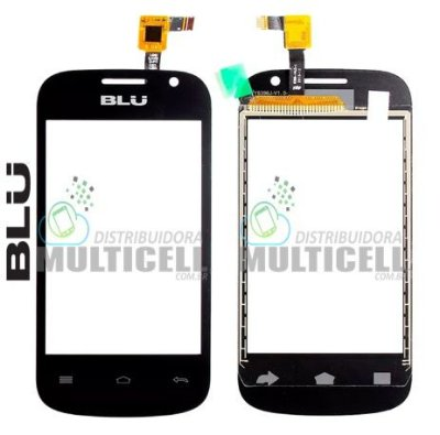 TELA VIDRO TOUCH SCREEN BLU D142 4.0 PRETO ORIGINAL