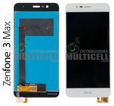 GABINETE FRONTAL TELA LCD MODULO COMPLETO ASUS ZC520TL ZENFONE 3 MAX BRANCO 1ªLINHA AAA