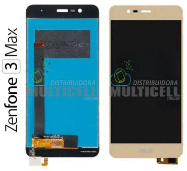 GABINETE FRONTAL TELA LCD MODULO COMPLETO ASUS ZC520TL ZENFONE 3 MAX DOURADO 1ªLINHA AAA