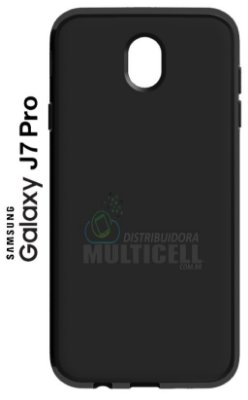 CAPA CASE DE SILICONE TPU TOP BLACK SAMSUNG J730 GALAXY J7 PRO PRETA ESCOVADA