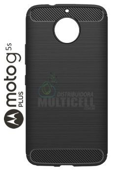 CAPA CASE DE SILICONE TPU TOP BLACK MOTOROLA XT1802 MOTO G5S PLUS PRETA ESCOVADA