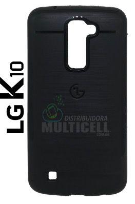 CAPA CASE DE SILICONE TPU TOP BLACK K430 LG K10 PRETA ESCOVADA