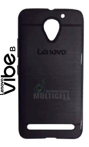 CAPA CASE DE SILICONE TPU TOP BLACK LENOVO A6020 VIBE B PRETA ESCOVADA