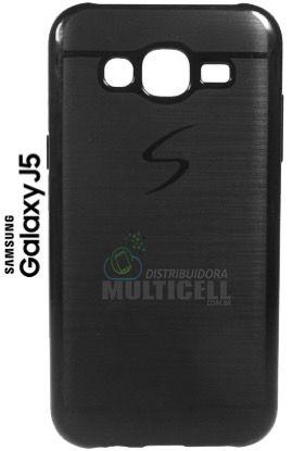 CAPA CASE DE SILICONE TPU TOP BLACK SAMSUNG j500 GALAXY J5 PRETA ESCOVADA