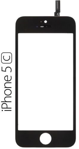 VIDRO TELA FRONTAL COM TOUCH APPLE IPHONE 5C 1ªLINHA AAA QUALIDADE GOLD