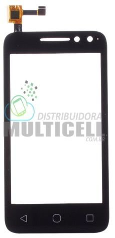 TELA SENSÍVEL AO TOQUE VIDRO TOUCH SCREEN ALCATEL OT-4034 4034 ONE TOUCH PIXI 4 4.0 PRETO ORIGINAL