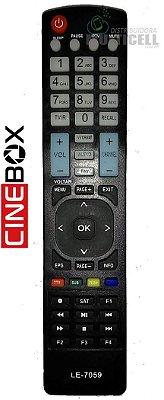 CONTROLE REMOTO CINEBOX MAESTRO HD CINEBOX X LE-7059 1ª LINHA