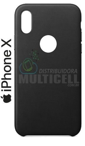 CAPA CASE DE SILICONE TPU TOP BLACK APPLE IPHONE X PRETA ESCOVADA