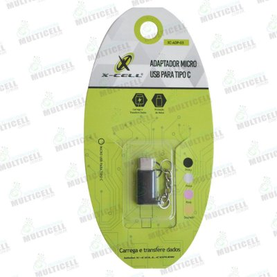 ADAPTADOR MICRO USB P/ TIPO C FLASH DRIVER PARA SMART PHONE E TABLETS CORES VARIADAS