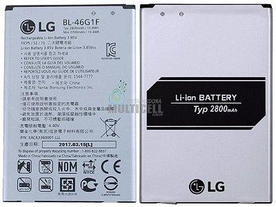 BATERIA LG BL-46G1F BL46G1F M250 M250DS 2700mAh LG K10 2017 1ªLINHA