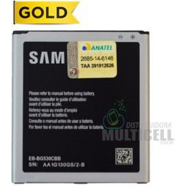 BATERIA SAMSUNG G530 G530BT G530H G531 G531H G531BT J500 J500M J500F J5 J320 J320M J320F J3 GRAND PRIME DUOS EB-BG530CBE 1ªLINHA AAA QUALIDADE GOLD (COM CHIP TURBO)