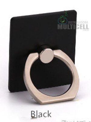 SUPORTE DE ANEL DE METAL RING HOLDER MOBILE PRETO