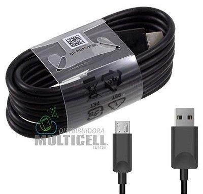CABO MICRO USB V8 COM TRANSMISSÃO DE DADOS E CARGA PRETO ORIGINAL