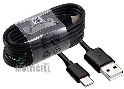 CABO MICRO USB TIPO C COM TRANSMISSÃO DE DADOS E CARGA PRETO ORIGINAL