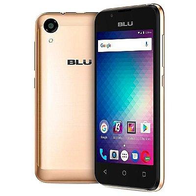 APARELHO CELULAR DESBLOQUEADO SMARTPHONE BLU A110L ADVANCE L3 4.0 DOURADO