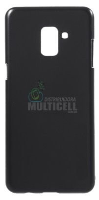 CAPA CASE DE SILICONE TPU TOP BLACK SAMSUNG A730 GALAXY A8 PLUS PRETA ESCOVADA