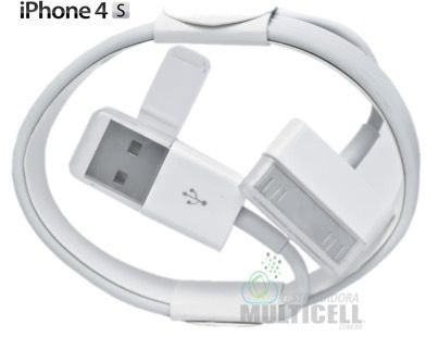 CABO USB CARGA E DADOS IPHONE 4 IPHONE 4S 1ªLINHA AAA QUALIDADE GOLD (SEM EMBALAGEM)