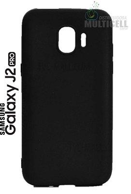 CAPA TPU CASE DE SILICONE TOP BLACK SAMSUNG J250 GALAXY J2 PRO PRETO