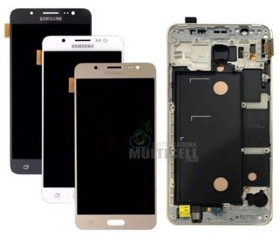 GABINETE FRONTAL LCD DISPLAY TOUCH SCREEN SAMSUNG j510 GALAXY j5 2016 1ª LINHA QUALIDADE AAA