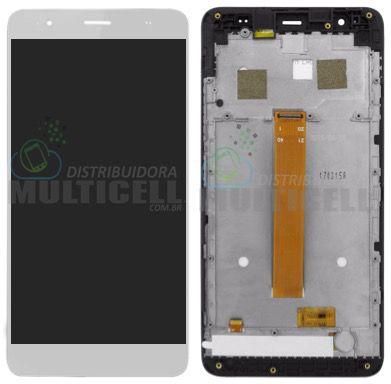 GABINETE FRONTAL DISPLAY LCD TELA TOUCH SCRENN MODULO COMPLETO POSITIVO QUANTUM Q5 MUV PRO BRANCO ORIGINAL