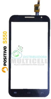 TELA TOUCH SCREEN POSITIVO YPY S550 S 550 PRETO ORIGINAL