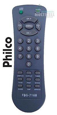 CONTROLE REMOTO TV PHILCO TUBO FBG-7168 1ª LINHA