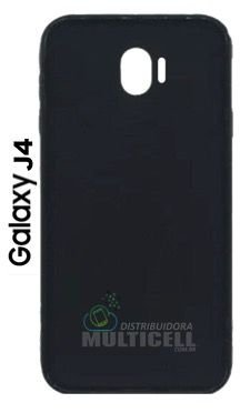 CAPA CASE DE SILICONE TPU TOP BLACK SAMSUNG J400 GALAXY J4 PRETA ESCOVADA