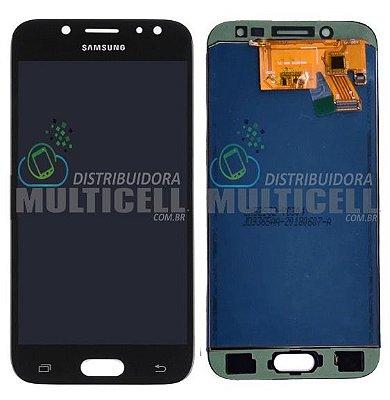 GABINETE FRONTAL DISPLAY LCD TELA TOUCH SCRENN MODULO COMPLETO SAMSUNG J530 J530F GALAXY J5 PRO PRETO 1ª LINHA (COM BRILHO AJUSTÁVEL)