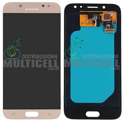 GABINETE FRONTAL DISPLAY LCD TELA TOUCH SCRENN MODULO COMPLETO SAMSUNG J530 GALAXY J5 PRO DOURADO GOLD (ORIGINAL IMPORTA