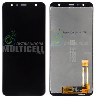 GABINETE FRONTAL DISPLAY LCD MODULO COMPLETO SAMSUNG J410 J4 CORE J415 j4 PLUS J610 j6 PLUS PRETO (ORIGINAL IMPORTADO)