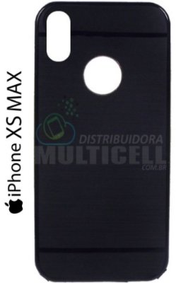 CAPA CASE DE SILICONE TPU TOP BLACK APPLE A1921 A2101 A2102  A2104 IPHONE XS MAX PRETA ESCOVADA